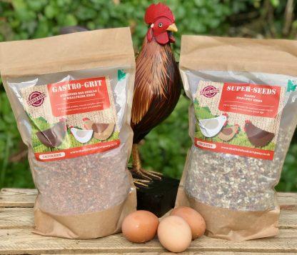 Super seeds, chicken food, chicken enrichment