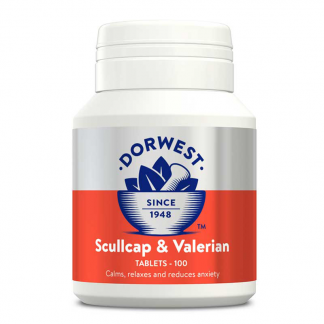 Dorwest Scullcap and Valerian, medicine for anxious dogs