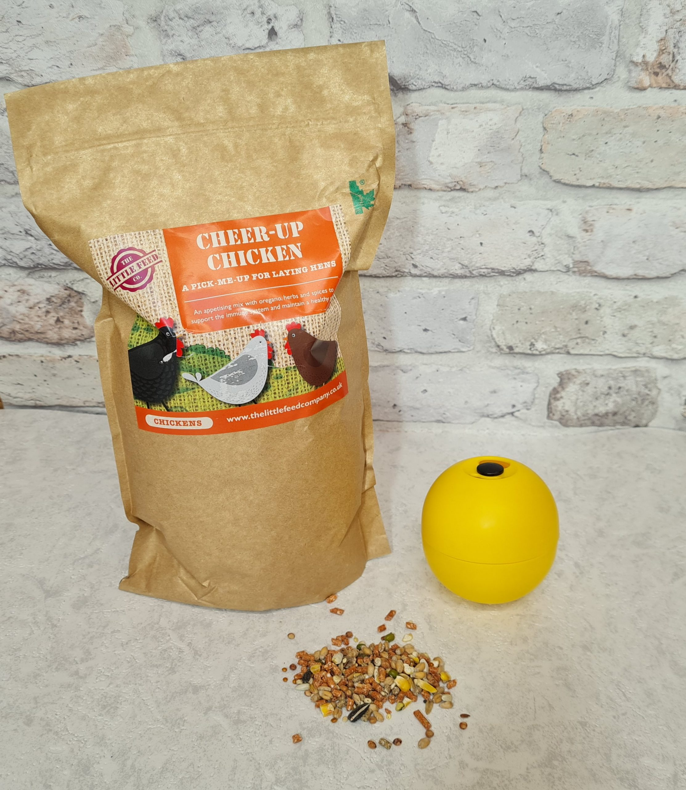 Cheer up chicken, little feed company, chicken enrichment, treats for chickens,