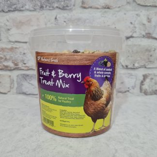 Chicken treats, treats for chickens, fruit and berry treat mix, chicken enrichment, Natures Grub treat mix